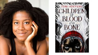 tomi_adeyemi_and_her_book_cover_for_children_of_blood_and_bone